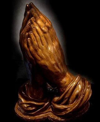 Jessica Goldfinch; Praying Hands, 2010, Original Sculpture Other,  11 inches. Artwork description: 241  Cold Cast Bronze    ...