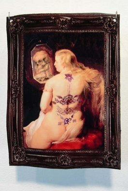 Jessica Goldfinch; Venus de Morte, 2010, Original Mixed Media, 2.5 x 5 inches. Artwork description: 241   Mixed Media on Shrinky Dink  ...