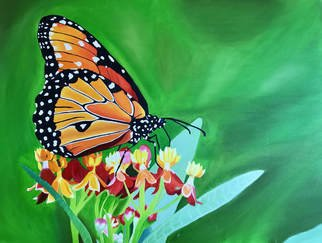 Jocelynn Grabowski; Butterfly, 2017, Original Painting Acrylic, 42 x 36 inches. Artwork description: 241 Large acrylic painting inspired by a photograph I had taken. ...