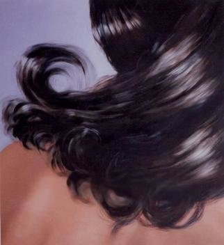James Gwynne, 'Hair', 2000, original Painting Oil, 46 x 50  x 3 inches. Artwork description: 2703 Figure fragment of a nude model focusing on the hair. ...