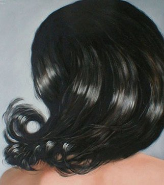James Gwynne, Hair, 2002, Original Painting Oil, size_width{Hair-1338674417.jpg} X 50 x  inches