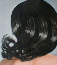 Artist: James Gwynne's, title: Hair, 2002, Painting Oil
