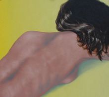 Artist: James Gwynne's, title: Sleeping Nude, 2003, Painting Oil