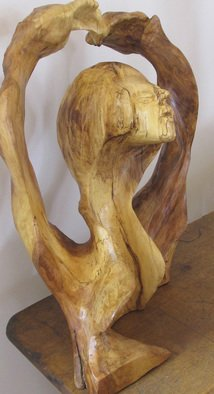 John Clarke; Dancer, 2016, Original Sculpture Wood, 14 x 23 inches. Artwork description: 241  Black cherry burl, woman dancing,  ...