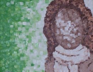 Jaime Hesper, 'Andes', 2004, original Painting Oil, 18 x 14  x 1 inches. Artwork description: 1911 Oil on canvas.  cool green/ white with brown.  thick paint.  portrait of young woman wearing scarf.  ...