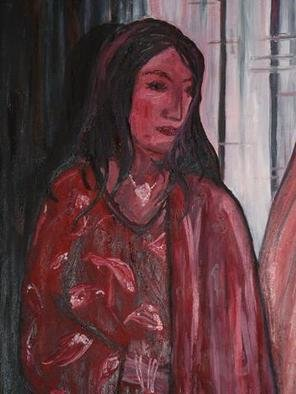 Jaime Hesper; Waiting, 2004, Original Painting Oil, 24 x 36 inches. Artwork description: 241 oil on canvas.  Thick texture, bold brushstrokes....