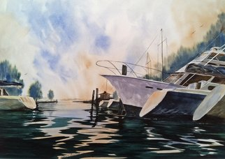 Don Bradford; Afternoon Rain  Point Clear, 2007, Original Watercolor, 27 x 24 inches. Artwork description: 241        Gulf Storm rolls through Point Clear Alabama.  ...