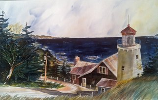Don Bradford; On A Clear Day, 2002, Original Watercolor, 27 x 20 inches. Artwork description: 241             Top of the bay.  ...