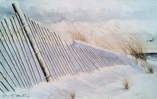 Don Bradford; WINTER ON SHEEPSHEAD BAY, 1983, Original Watercolor, 24 x 17 inches. Artwork description: 241  Blizzard of 1983 in New York City found me stranded on Long Island ...