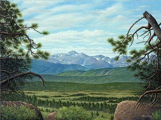 James Hildebrand; Longs Peak, 2016, Original Painting Oil, 24 x 18 inches. Artwork description: 241 Longs Peak in Rocky Mountain National Park ...