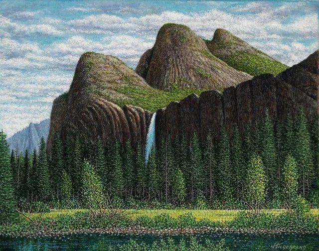 James Hildebrand; Three Sisters, 2019, Original Painting Oil, 14 x 11 inches. Artwork description: 241 Yosemite Falls, Three sisters mountains, iol on canvas...