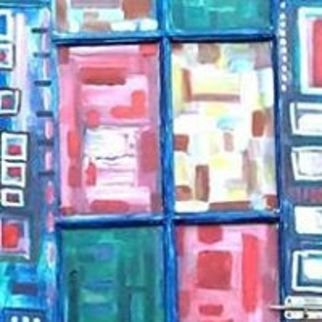 Jim Bilgere; Doorway To Infinity, 2018, Original Painting Acrylic, 26 x 84 inches. Artwork description: 241 Abstract painting on an old French Quarter Door about 150 years old turning an old discarded heirloom into modern art...