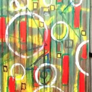 Jim Bilgere; Space And Time, 2016, Original Painting Acrylic, 40 x 84 inches. Artwork description: 241 Abstract painting on a 150 year old door discarded in the French Quarter...