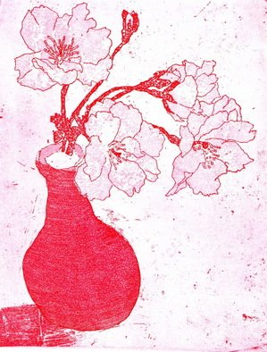 Jim Haldane; Cherry Blossom, 2007, Original Printmaking Etching, 225 x 180 mm. Artwork description: 241  A simple and classic image that captures the ephemeral cherry blossom. This print was inspired by a visit by Jim to Japan in 2005. ...