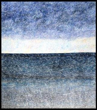 Jim Haldane; Seascape 1, 2003, Original Painting Acrylic, 5 x 5 feet. Artwork description: 241  Jim lives near the sea and in 2003 decided to embark on one of the simplest and yet most challenging projects of his career and try and depict the ever changing seascapes on canvas. ...