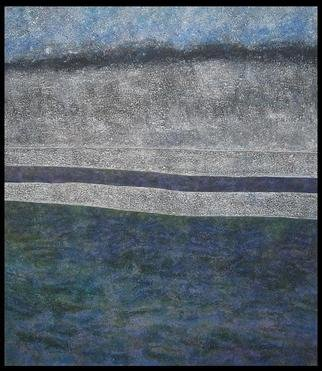 Jim Haldane; Seascape 3, 2003, Original Painting Acrylic, 5 x 5 feet. Artwork description: 241  Jim lives near the sea and in 2003 decided to embark on one of the simplest and yet most challenging projects of his career and try and depict the ever changing seascapes on canvas. ...