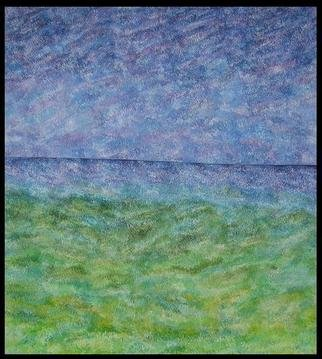 Jim Haldane; Seascape 4, 2003, Original Painting Acrylic, 5 x 5 feet. Artwork description: 241  Jim lives near the sea and in 2003 decided to embark on one of the simplest and yet most challenging projects of his career and try and depict the ever changing seascapes on canvas. ...