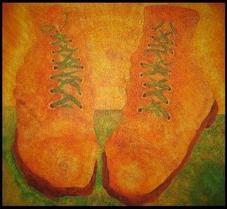 Jim Haldane; Van Goghs Boots, 2003, Original Painting Acrylic, 5 x 4 feet. Artwork description: 241  A large canvas inspired by Van Gogh. ...