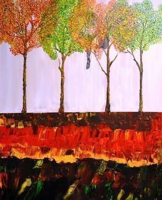 Jim Lively, 'Falling Through Fall', 2016, original Mixed Media, 24 x 30  x 2 inches. Artwork description: 1911     Zinfandel Wine and Acrylic on canvas.                                                                                                                  ...