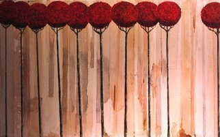Jim Lively, 'The Autumn Ten', 2016, original Mixed Media, 48 x 30  x 5 inches. Artwork description: 1911      Merlot Wine and Acrylic on canvas.                                                                                                                   ...