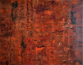 Jim Lively; Burnt Orange Integrity, 2019, Original Painting Acrylic, 20 x 16 inches.