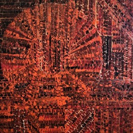 Jim Lively, , , Original Painting Acrylic, size_width{burnt_orange_majestic-1554152949.jpg} X 16 inches