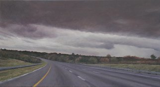 James Morin; Approaching Storm I, 2009, Original Painting Oil, 30 x 16 inches.