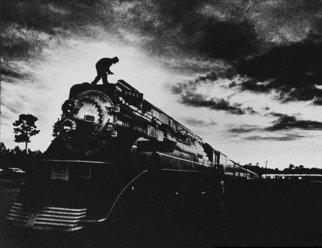Jim Wright; American Freedom Train, 1976, 2010, Original Photography Black and White, 14 x 11 inches. Artwork description: 241    bicentennial train pulled museum cars city to city       ...