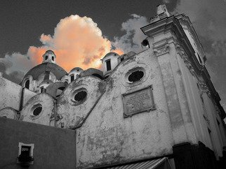 Jim Wright; Church And Cloud, 2002, Original Photography Color, 14 x 11 inches. Artwork description: 241  church - isle of capri, italy    ...
