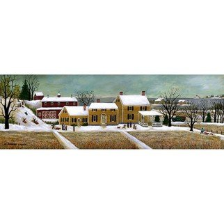 Janet Munro, 'Cranberry Fields In Winter', 2015, original Giclee Reproduction, 18 x 6  inches. Artwork description: 1911  Cranberry Fields in WinterThese certified archival giclee reproductions are made with the most advanced technology. They retain the minute detail, subtle tints, blends and feel of the original painting - and are of the same high quality as gicle prints being shown in major museums and galleries, ...