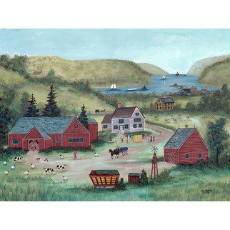 Janet Munro, 'Farm On The Hudson', 2015, original Giclee Reproduction, 17 x 12.5  inches. Artwork description: 1911  Farm on the HudsonThese certified archival giclee reproductions are made with the most advanced technology. They retain the minute detail, subtle tints, blends and feel of the original painting - and are of the same high quality as gicle prints being shown in major museums and galleries, ...