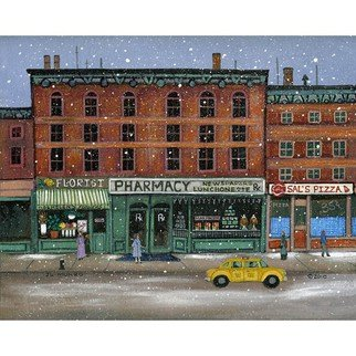 Janet Munro; New York City Memories, 2015, Original Giclee Reproduction, 15 x 12 inches. Artwork description: 241  New York City MemoriesThese certified archival giclee reproductions are made with the most advanced technology. They retain the minute detail, subtle tints, blends and feel of the original painting - and are of the same high quality as gicle prints being shown in major museums and galleries, ...