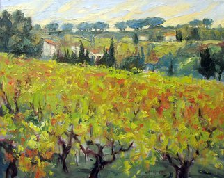 John Maurer; Amongst Vines, 2014, Original Painting Oil, 30 x 24 inches. Artwork description: 241  French landscape, colorful, oil painting, palette knife. ...