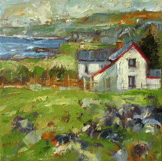 John Maurer, House by the Sea, 2014, Original Painting Oil, size_width{House_by_the_Sea-1412259466.jpg} X 14 inches