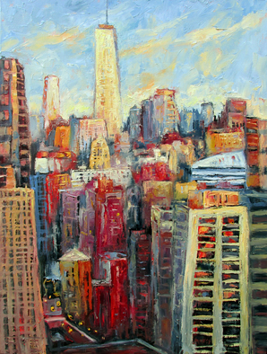 John Maurer, Morning in the City, 2014, Original Painting Oil, size_width{Morning_in_the_City-1412261309.jpg} X 40 inches