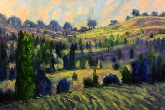 John Maurer; Provence Fields, 2018, Original Painting Oil, 38 x 26 inches. Artwork description: 241 One of the most  paintable  places I ve visited is southern France, most importantly, Provence.  Particularly the beautiful lavendar fields and vineyards. This piece is painted on canvas using palette knives and brushes. Includes a brushed silver floater frame. ...