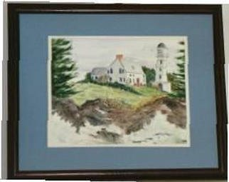 Joanna Batherson; Cape Elizabeth Light House, 2003, Original Watercolor, 20 x 16 inches. Artwork description: 241 An original framed watercolor inspired by one of the Two Lights in Cape Elizabeth, ME. ...