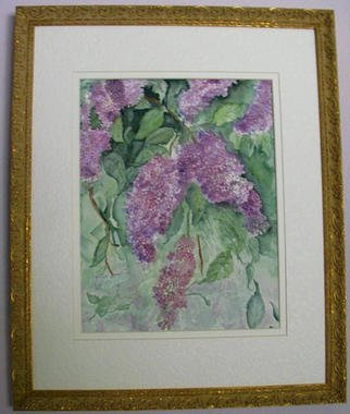 Joanna Batherson; Lilacs In Bloom, 2003, Original Watercolor, 16 x 20 inches. Artwork description: 241 An original watercolor of spring' s eary blossoms. ...