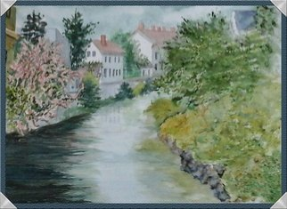 Joanna Batherson; Small Stream In Austria, 2015, Original Watercolor, 20 x 16 inches. Artwork description: 241   This is from a friend's photo.  I was in awe of this scene.  ...