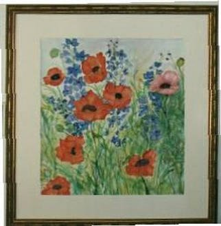 Joanna Batherson; Spring Poppies, 2003, Original Watercolor, 26 x 28 inches. Artwork description: 241 An original watercolor inspired by a visit to a friend' s garden. ...