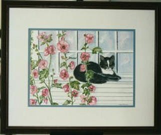 Joanna Batherson; The Visitor, 2003, Original Watercolor, 20 x 16 inches. Artwork description: 241 An original watercolor inspired by the constant visit of a neighbor' s cat. ...