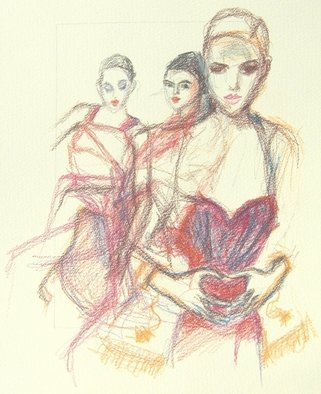 Joanna Glazer; Beauty Uncovered, 2010, Original Drawing Pencil, 30 x 40 cm. Artwork description: 241  Beauty Uncovered ...