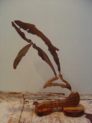 Joel P Heinz Sr.; Petroglyph Whale, 2007, Original Sculpture Wood, 14 x 18 inches. Artwork description: 241  Petroglyph whale is sculpted from solid Hawaiian Koa wood ...