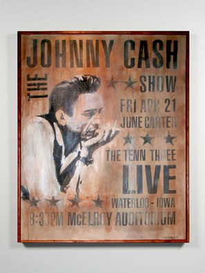 Joe Morris; Mr Johnny Cash, 2008, Original Mixed Media, 48 x 60 inches. Artwork description: 241  Own a one of a kind Joe Morris art. A niche Joe Morris has coined poster painting....