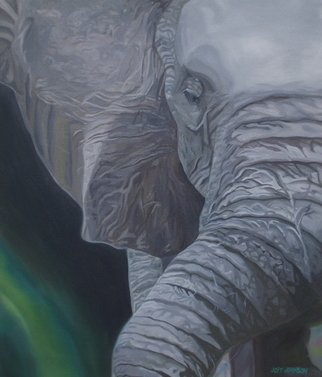Joey Johnson; Elephant, 2009, Original Painting Oil, 67 x 77.5 cm. Artwork description: 241      Original Oil on canvas painting, contemporary realism. signed by artist needs to be framed can be rolled for shipping. thanks for looking     ...