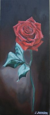 Joey Johnson; Red Rose, 2009, Original Painting Oil, 51.5 x 22.5 cm. Artwork description: 241     Original Oil on canvas painting, contemporary realism. signed by artist needs to be framed can be rolled for shipping. thanks for looking    ...