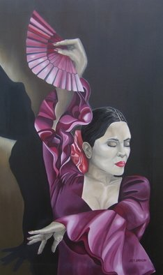 Joey Johnson; Senorita, 2009, Original Painting Oil, 55 x 90 cm. Artwork description: 241   Original Oil on canvas painting, contemporary realism. signed by artist needs to be framed can be rolled for shipping. thanks for looking  ...