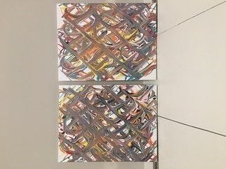 John Arley; Untitled, 2018, Original Painting Acrylic, 11 x 14 inches. Artwork description: 241 Set of two, acrylic on canvas, both 11 x 14 ...