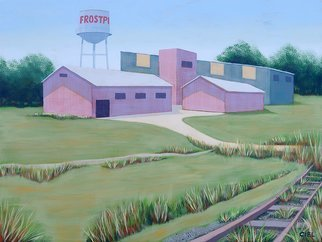 John Cielukowski; Frostproof Florida, 2018, Original Painting Acrylic, 24 x 18 inches. Artwork description: 241 Original acrylic painting on a wood panel.Vintage Florida landscape. Frostproof was once a booming citrus town. it is located in south central Florida. now it is mostly a retirement   tourist destination during the winter season. ...