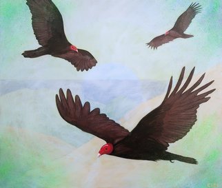 John Cielukowski; Turkey Vultures, 2020, Original Painting Acrylic, 24 x 20 inches. Artwork description: 241 Original acrylic painting on a birch wood dimensional panel20  x 24  x 1. 5  Finished edges. Ready to hang. ...